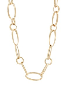 Kenneth Jay Lane Women's Oversized Mixed-Link Necklace