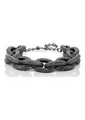 Kenneth Jay Lane Women's Oversized-Oval-Link Necklace - Gunmetal