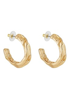 Kenneth Jay Lane Women's Sculpted Hoop Earrings - Gold