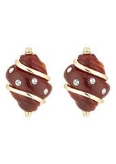 Kenneth Jay Lane Women's Shell Stud Earrings - Gold