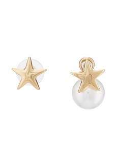 Kenneth Jay Lane Women's Star Mismatched Stud Earrings - Gold