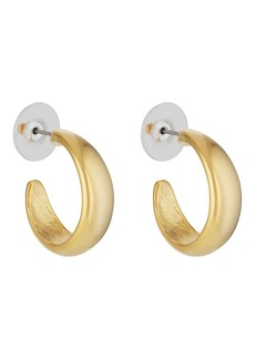 Kenneth Jay Lane Women's Tapered Hoop Earrings - Gold