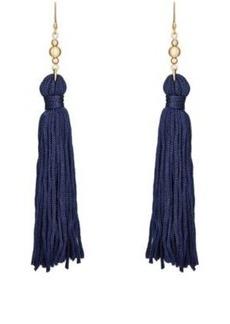 Kenneth Jay Lane Women's Tassel Double-Drop Earrings