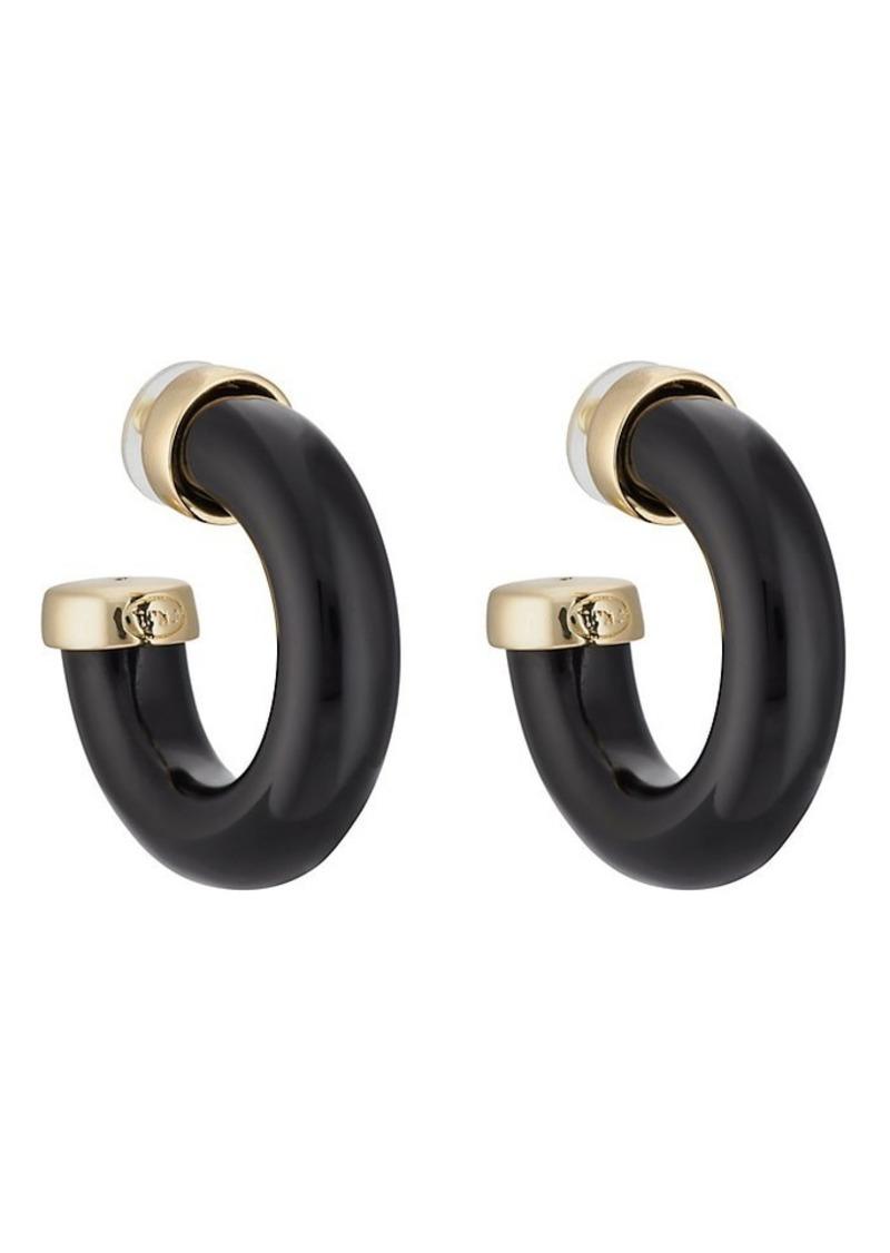 Kenneth Jay Lane Women's Tube Hoop Earrings - Gold