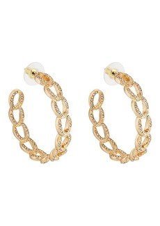 Kenneth Jay Lane Womens Interlocking Oval-Link Earrings