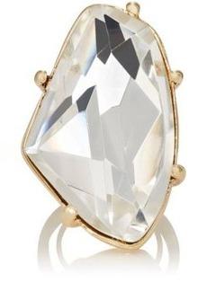 Kenneth Jay Lane Women's White Crystal Cocktail Ring
