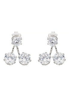 Kenneth Jay Lane Women's White-Crystal-Embellished Ear Jackets