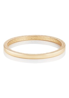 Kenneth Jay Lane Women's Yellow - Gold-Plated Textured Bangle - Gold