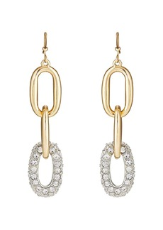 Kenneth Jay Lane Women's Yellow - Gold-Plated Triple-Drop Earrings - Gold