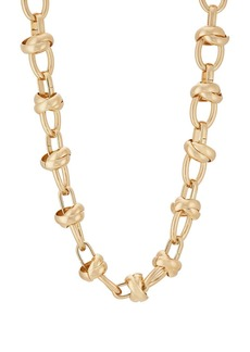 Kenneth Jay Lane Women's Yellow-Gold-Plated Oval-Link Necklace