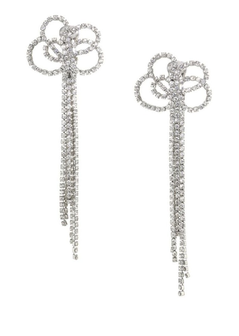Kenneth Jay Lane Knot and Tassel Clip Earrings