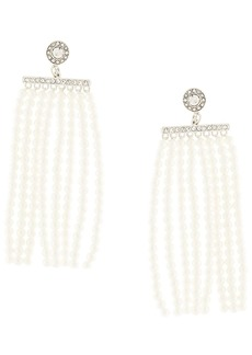 Kenneth Jay Lane pearl fringe earrings