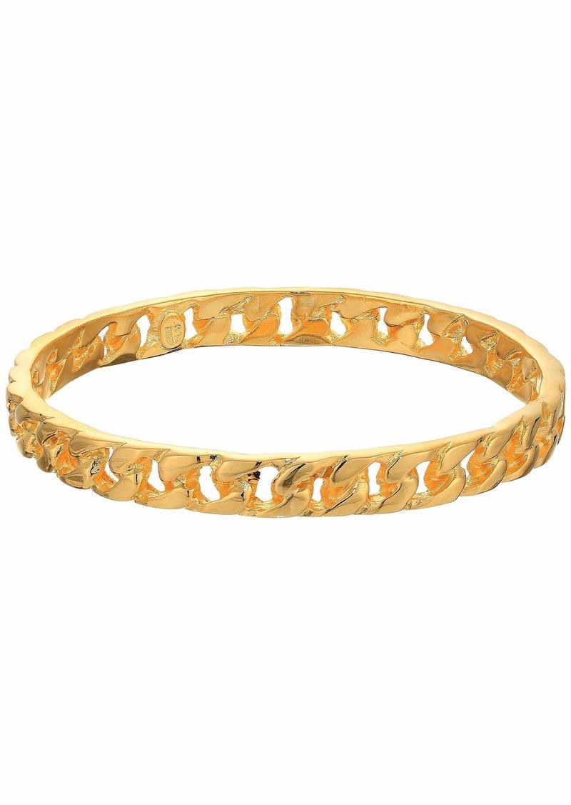 Polished Gold Chain Link Bangle