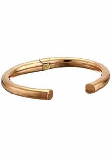 Kenneth Jay Lane Polished Gold Open End Hinge Bangle