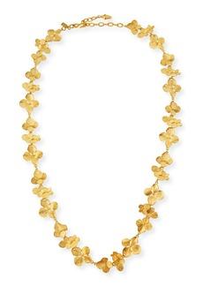 Kenneth Jay Lane Satin Floral Station Necklace