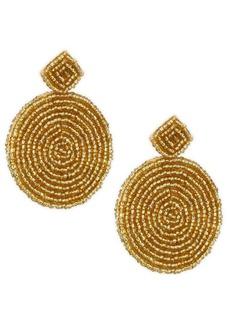 Kenneth Jay Lane Seed Bead Circle Earrings
