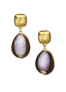 Kenneth Jay Lane Shell Clip-On Drop Earrings