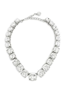 Kenneth Jay Lane Silvertone Graduated Crystal Stone Headlite Necklace