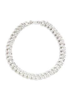 Kenneth Jay Lane Silvertone Link Necklace