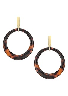 Kenneth Jay Lane Tortoiseshell Hoop Earrings