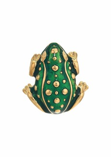Kenneth Jay Lane Transparent Green Frog Pin