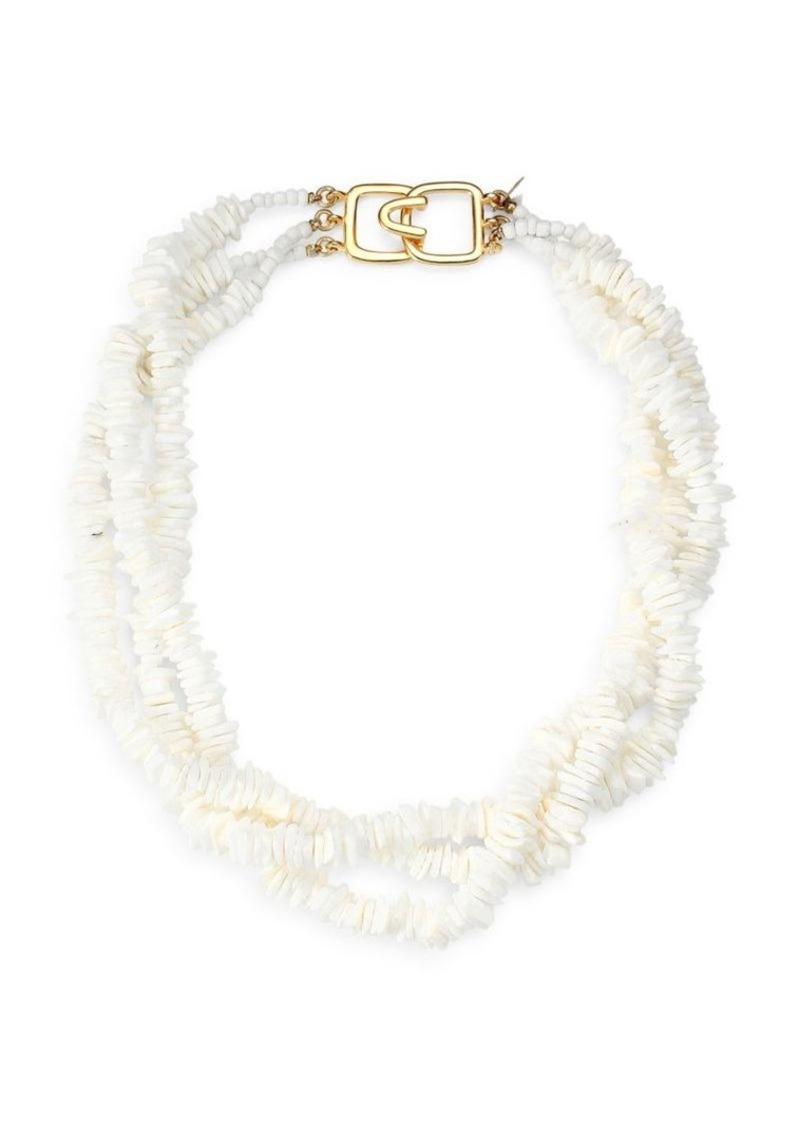 Kenneth Jay Lane Triple-Strand Collar Necklace