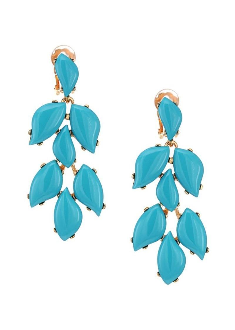 Kenneth Jay Lane Turquoise Clip-On Drop Earrings