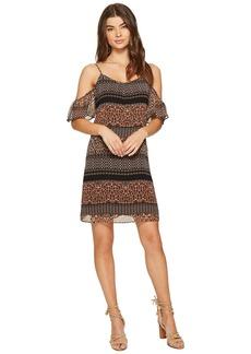 Kensie Animal Mash Up Cold Shoulder Dress KS7K7164