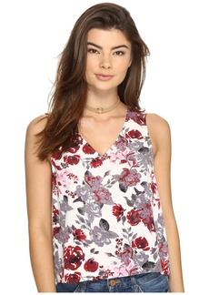 Kensie Antique Floral V-Neck Top KS2U4022