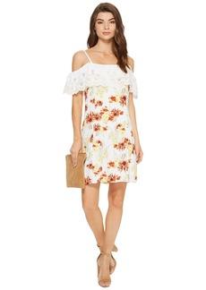 Kensie Botanical Floral Cold Shoulder Dress KS7K7200