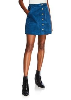 Kensie Button-Front Sleek Stretch Crepe Skirt