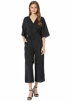 Kensie Celestial Stars Kimono Sleeve Tie Front Jumpsuit KS6K8422