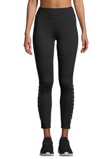 Kensie Compression Ponte Lace-Up Yoga Pants