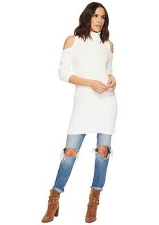 Kensie Cotton Blend Cold Shoulder Sweater Dress KS1U7069