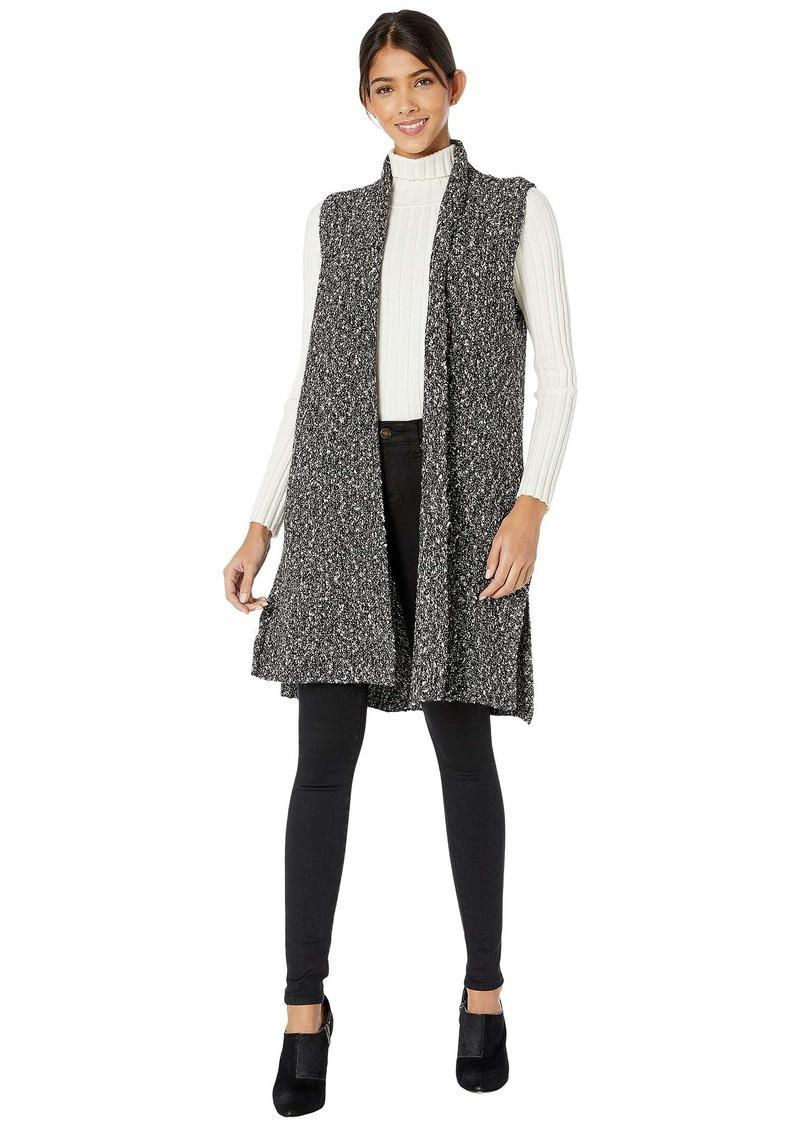 Kensie Cotton Tweed Sweater Vest KSNK5963