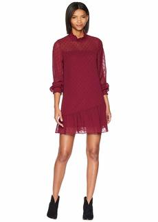 Kensie Crinkle Dot Dress KS0K8389