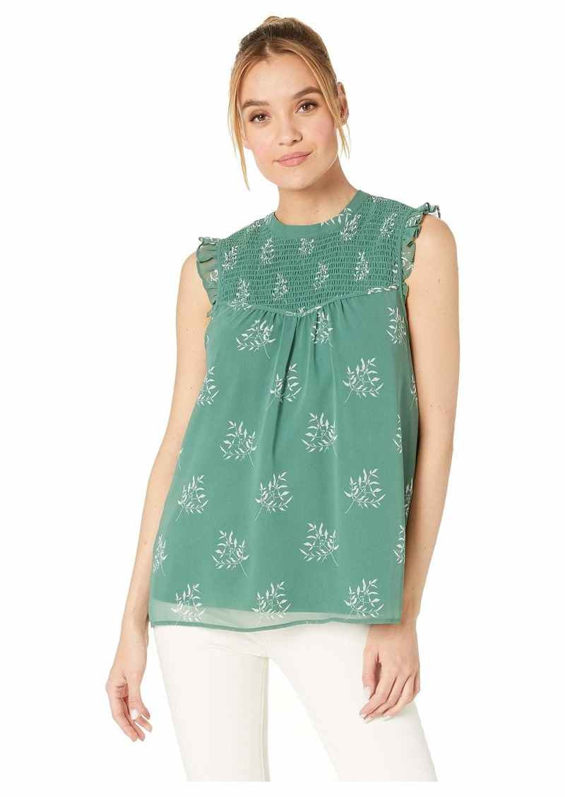 Kensie Delicate Spring Sleeveless Top With Lace Detail KS4K4813