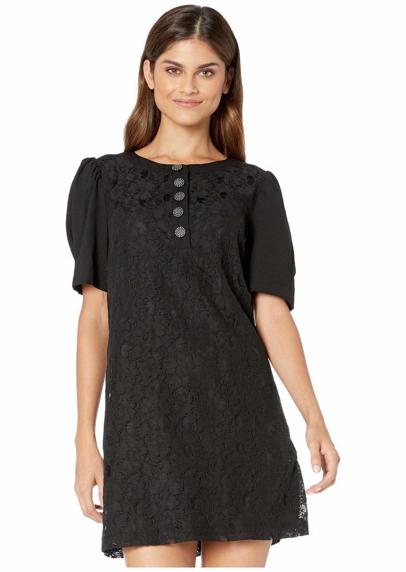 Kensie Etched Lace Short Sleeve Dress KS9K8397