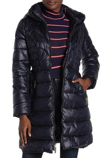 Kensie Faux Fur Lined Quilted Coat