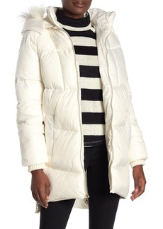 Kensie Faux Fur Trimmed Quilted Coat