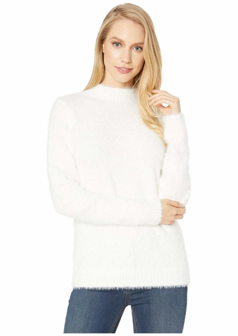 Kensie Faux Fur Yarn Mock Neck Sweater KS0K5965