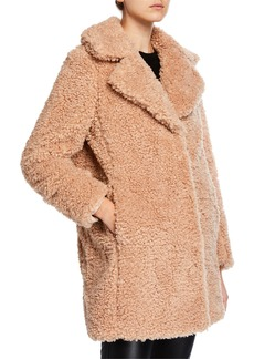 Kensie Faux-Shearling Snap-Front Coat
