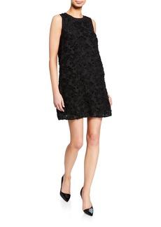Kensie Floral Applique Burnout Dress