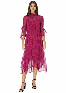 Kensie Floral Vines 3/4 Sleeve Midi Dress KSDK8421