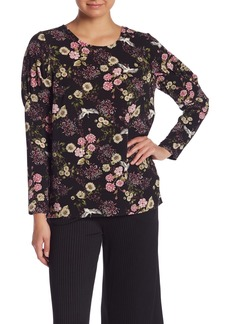 Kensie Floral Woven Blouse