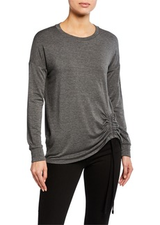 Kensie French Terry Ruched Sweatshirt