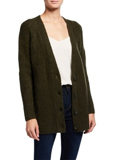 Kensie Fuzzy Knit Sweater Cardigan
