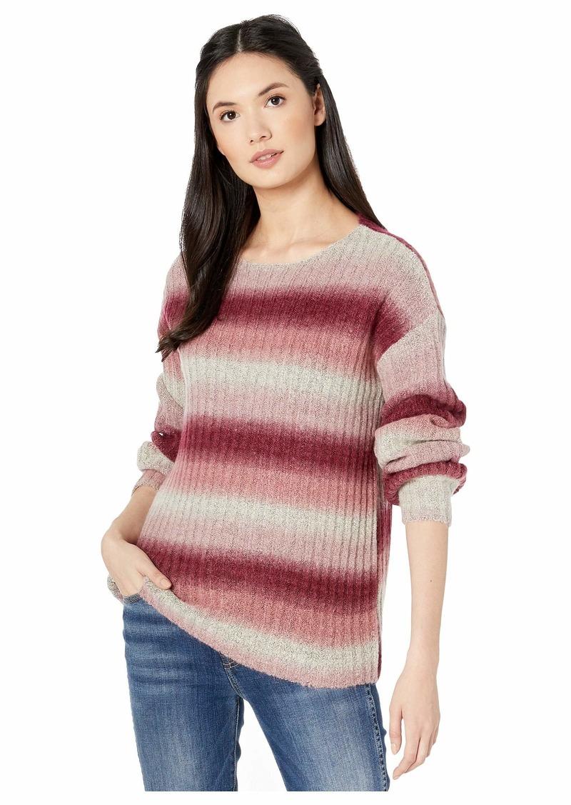 Kensie Fuzzy Sweater Knit Ombre Sweater KS0K5938