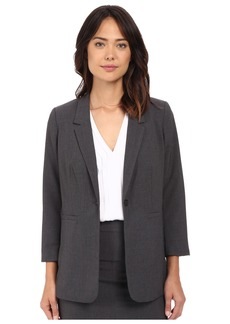 Kensie Heather Stretch Crepe Longer Blazer KS2K2125