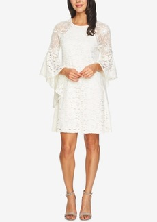 kensie Bell-Sleeve Lace Dress
